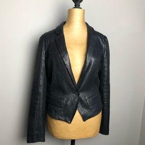 Free People sequin one button blazer jacket 1007